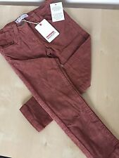 Girls 3-7 Years Brown Skinny Fit stretch Cord Trousers by Minoti - New With Tag