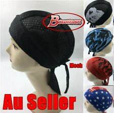 Mesh Durags Du Rag Cap Doo Rag Skully Chef Pirate Sports Biker Hat Headwrap Net