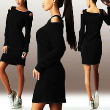 Women Mini Dress With Off Shoulder And Long Sleeves Slim Fit.