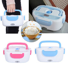 Portable 12V Car Plug Electric Heated Lunch Box Bento Case Food Warmer Container