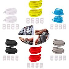 1 Pair Running Sneakers No-Tie Locking Elastic Sports Shoelaces Shoe Laces