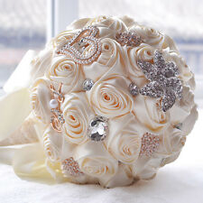 Bridal Bridesmaid Ball Flower Dress Accessories Crystal Pearl Wedding Bouquets