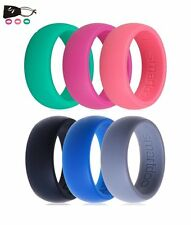 6pcs Smartdoo Silicone Lover Men Lady Wedding Wedding Band Rubber Outdoor Ring