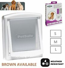 PETSAFE STAYWELL DOG DOOR & CAT FLAP SMALL 715 MEDIUM 740 LARGE 760 White