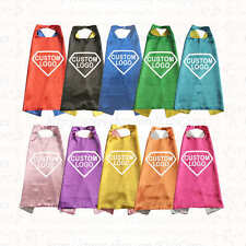 Promotional Superhero Capes Personalized Custom Logo Printed Advertising Text