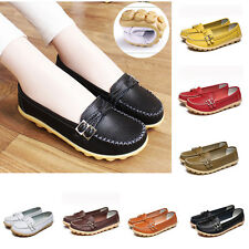 New Women's Comfort Leather Ballet Oxfords Flats Shoes Casual Loafers Boat Shoes