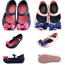 Baby Girls Kids Jelly Shoes Toddler Sandles Bow Summer Beach Shoe Rain Shoes