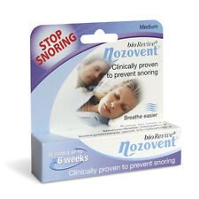 Nozovent Stop Snoring *Clinically Proven* (BioRevive) Re-Usable for 6 Weeks