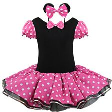 Toddler Girl Kids Minnie Mouse Outfits Party Fancy Costume Tutu Dress Headband