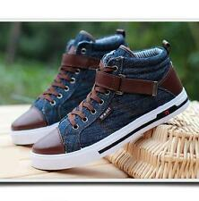 mens lace-up denim casual sports canvas shoes Fashion sneakers skate board shoes