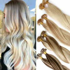 """DOUBLE DRAWN Pre Bonded Nail Tip U Tip Remy Human Hair Extensions 1g16""""18""""20""""22"""""""