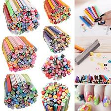 50pcs  Stick Rods DIY Mixed Styles  Nail Art Stickers Fimo Canes Polymer Clay