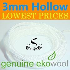GENUINE EKOWOOL Hollow Braided Silica Wick 3mm Authorized Distributor