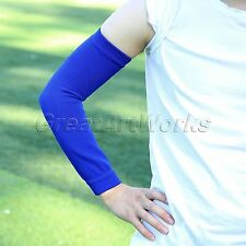 1 Pair Elastic Compression Protective Long Arm Elbow Support Brace Guard Sports