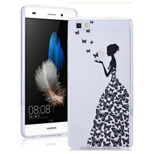Ultra Thin Fashion Butterfly girl Soft TPU Case Cover For Various mobile phone