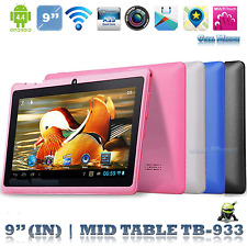 """5 colors 9"""" Android A33 Allwinner Quad Core 522 +8G 8GB Bluetooth Tablet PC"""