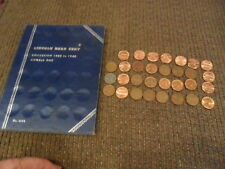 Wheat Penny Collection w/1949 Whitman Penny Book (19)  plus 31 Other Cents