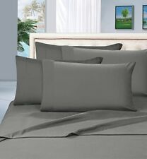 PREMIUM FINISHED 1000TC 100% EGYPTIAN COTTON 2PC PILLOW CASES GREY SOLID/STRIPED