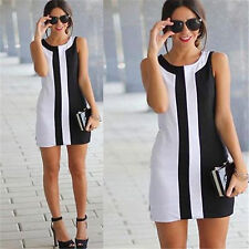 Womens Sexy Lady Summer Sleeveless Cocktail Evening Party Mini Dress Plus Size