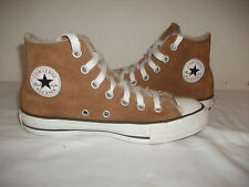 STUNNING CONVERSE ALL STAR CANVAS HI-TOP WHEAT SUEDE/FUR LINED TRAINERS 4 UK VGC