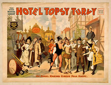 Photo Print Vintage Poster: Stage Drama Flyer Theatre Show Hotel Topsy Turvy 2