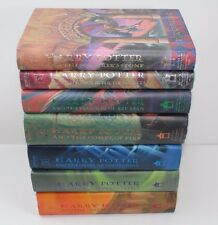 HARRY POTTER Complete Hardcover Book Set 1-7, First American Edition - LIKE NEW