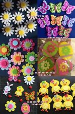 Easter Felt Stickers Art Craft Decoration (Pack of 8) Egg,Chick,Flower,Butterfly