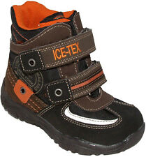 Iceman Ice 'Tex' Insulated Boys Brown Black Winter Warm Lined Boots 7 - 9 FG Fit
