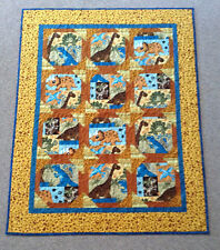Handmade Baby Dinosaurs Quilt, Handcrafted