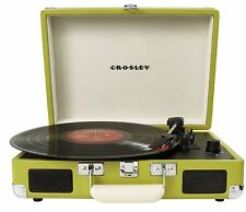 Crosley CR8005A-GR Cruiser Portable 3-Speed Turntable,[RCA and headphone]HVI TSX