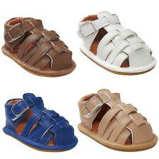 Infant Girls Boys Baby Summer PU Leather Sandals Soft Sole Crib Shoes Prewalker