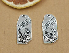 5/15/60pcs Tibet Silver Tag plate Charms Pendant Handmade accessories 30x14mm