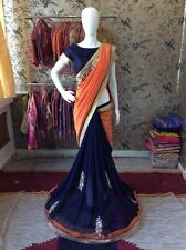 Designer Bollywood Indian Pakistani Sari Saree with Blouse