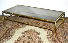 Vintage Gilt Brass Glass Top Coffee Table - FREE Delivery [PL3060A]