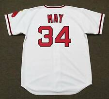 RUDY MAY California Angels 1970 Majestic Cooperstown Home Baseball Jersey