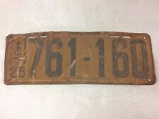1925 VINTAGE MICHIGAN LICENSE PLATE TAG ANTIQUE NICE PATINA WEATHERED