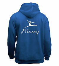 Juko Personalised Gymnastics Hoodie Girls Top Gymnast Hoody