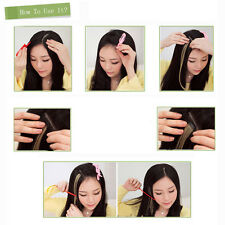 Pop Women Multi Color Long Straight Synthetic Clip in on Hair Extensions Piece