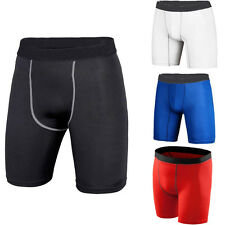Mens Sports GYM Compression Under Base Layer Shorts Running Fitness Tights Pants