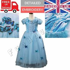 Girls Cinderella Princess Butterfly Snow Fancy Dress Party Costume Age 4 5 6 7 8