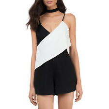 Women Fashion Color Block Sexy Backless Cami Romper Casual Jumpsuit Playsuit Top