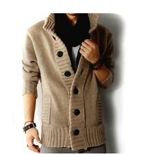 spring new design fashion korea style casual long sleeve men knitwear cardigan