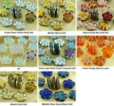 6pcs Crystal Large Flat Flower Cup Czech Glass Beads 14mm