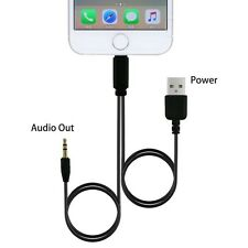 2In1 iPhone7/6/5 Audio adapter Lighting to 3.5mm Male Car Audio Cable USB Cable
