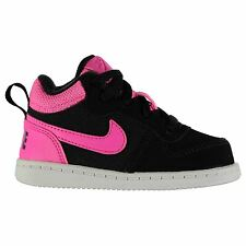 Nike Court Borough Hi Tops Trainers Girls Black/Pink Sports Shoes Sneakers