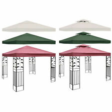 10' X 10' Gazebo Top Cover Patio Canopy Replacement 1-Tier or 2-Tier 3 Color New