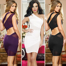 Sexy Dress party  party Bandage Bodycon One shoulder Cocktail Pencil Clubwear