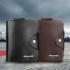 Multifunction Hasp Open Wallet Men PU Leather Men Wallets Purse Short XP