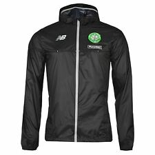 New Balance Celtic FC Rain Jacket Mens Black Football Soccer Coat Top