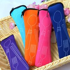 Nice Set Travel Bag Camping Chopstick Fork Spoon Stainless Steel